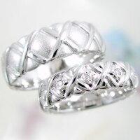 結婚指輪:プラチナ/ペアリング:幅広:マリッジリング/ペア2本セット:ダイヤモンドリング/Pt900指輪ダイヤ0.05ct