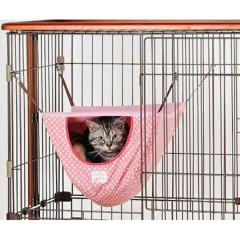ボンビアルコン キャットファンモック スクエアドットピンク 猫用