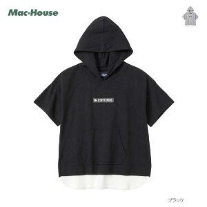 パーカー Tシャツ 半袖 キッズ 子供 男の子 ボーイズ トップス 綿100% Tパーカー カットソー