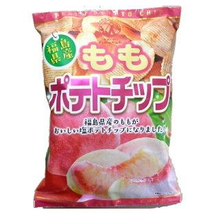福島県 もものポテトチップ 120gx1桃 ポテトチップス もも ご当地 ポテチ ザワつく金曜日の画像