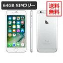 iPhone664GBシルバーSIMフリーA1586白ロム
