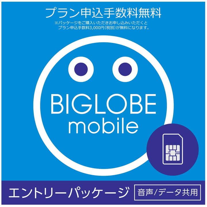 【メール便限定】BIGLOBEモバイル エントリーパッケージ データSIM SMS機能付きデータ通信SIM 音声通話SIM【送料無料※沖縄除く】【smtb-u】【RCP】※※SIMカードは同梱されません※※ 格安SIM