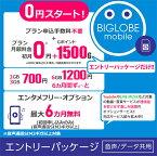 【メール便限定】BIGLOBE(ビッグローブ)モバイル エントリーパッケージ データSIM SMS機能付きデータ通信SIM 音声通話SIM【キャッシュバック】【ネコポス送料無料】【smtb-u】【RCP】※※SIMカードは同梱されません※※ 格安SIM