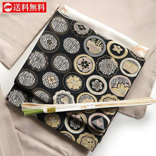 袋帯 仕立て上がり 東レシルック糸使用 - 織・紋並べ(クロ) - フォーマル着物と同時購入割引あり...