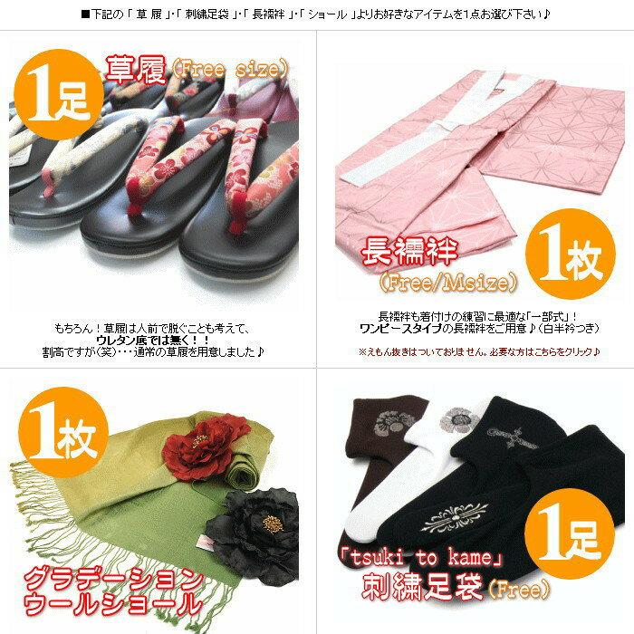 着物セット はじめての袷着物セット サイズM/L 洗える 着物 レディース 福袋 きものデビュー応援セット きもの キモノ kimono セット 袷
