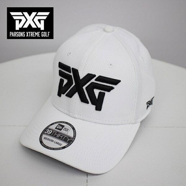 PXGGOLFNEWERAゴルフキャップホワイトMからLサイズフレックスフィット白帽子パーソンズエクストリームゴルフピーエックス