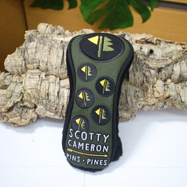 スコッティキャメロン カリフォルニア ギャラリー 限定デザイン ユーティリティ用 ヘッドカバー UT用 PINS PINES【18aw】