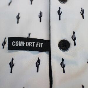 PXGGOLFゴルフ半袖ポロシャツホワイトブラックサボテン模様USのMサイズパーソンズエクストリームゴルフPARSONSXTREMEGOLF19aw