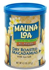 マウナロアマカダミアナッツ塩味127g4.5oz缶..Maunaloaマカナッツマカデミアナッツdryroasted
