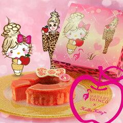 キティちゃんとコラボしたスペシャルな限定商品青森産のりんごを贅沢に使ってキャラメリゼした...