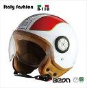 【送料無料!!】BEON スモールジェットヘルメット B110 フラッグ ITALY FASIONレディースヘルメット、アメリカン、ジェットヘルメット、キッズヘルメット、ハーフヘルメット、ハーレー、SG規格ヘルメット