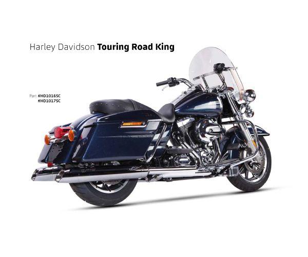 【送料無料!!】IRONHEAD(アイアンヘッド) HARLEY-DAVIDSON TOURING ROAD KING(ツーリング ロードキング)'06-'16 HC2-1C 2本出し スリップオン マフラーマフラー、サイレンサー、バッフル、IXIL、イクシル、ハーレー画像