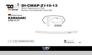 商品お届け後にレビューを書いていただくと送料無料!!KAWASAKIZ100010-13メータープロテクトパッドK3カーボン(MeterApperancePad)