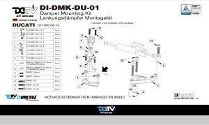 商品お届け後にレビューを書いていただくと送料無料!!ステアリングダンパーマウントキット25.1mmマトリス(DamperMountingKitforMATRIS)DUCATI-GT100006-10
