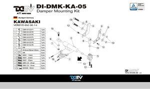 商品お届け後にレビューを書いていただくと送料無料!!ステアリングダンパーマウントキット25.1mmアロー(DamperMountingKitforARROW)KAWASAKI--VERSYS65006-14
