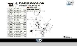 商品お届け後にレビューを書いていただくと送料無料!!ステアリングダンパーマウントキット24.6mmハイパープロ(DamperMountingKitforHyperpro)KAWASAKI-Z1000SX(NINJA1000)11-15