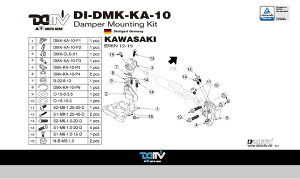 商品お届け後にレビューを書いていただくと送料無料!!ステアリングダンパーマウントキット24.6mmハイパープロ(DamperMountingKitforHyperpro)KAWASAKI-ER6N12-15