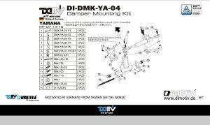 商品お届け後にレビューを書いていただくと送料無料!!ステアリングダンパーマウントキット24.6mmハイパープロ(DamperMountingKitforHyperpro)YAMAHA-MT-0714-15