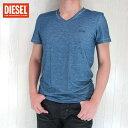 DIESEL ディーゼル メンズ トップス半袖 Tシャツ カットソー V首 Vネック アンダーシャツ UMTEE RANDAL/ネイビー サイズ:S/M/L/XL/XXL