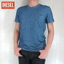 DIESEL ディーゼル メンズ トップス半袖 Tシャツ カットソー 丸首 クルーネック アンダーシャツ UMTEE RANDAL/ネイビー サイズ:S/M/L/XL