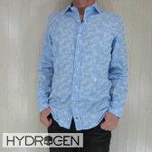 HYDROGEN ハイドロゲン メンズ シャツ 長袖 コットン トップス カモフラ180418/ライトブルー サイズ:S/M/L/XL