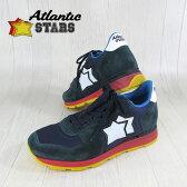 AtlanticSTARS アトランティックスターズ メンズ スニーカー イタリア シューズ 靴 ANTARES LNR-65N/グリーン×ネイビー サイズ:40〜45