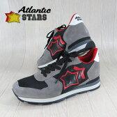 AtlanticSTARS アトランティックスターズ メンズ スニーカー イタリア シューズ 靴 ANTARES GNN-81N/グレー×レッド サイズ:40〜45