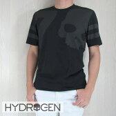 HYDROGEN ハイドロゲン メンズ Tシャツ 半袖 丸首 カットソー 200610/ブラック サイズ:S/M/L/XL/XXL