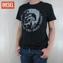 DIESEL ディーゼル メンズ トップス半袖 Tシャツ カットソー クルーネック 丸首 T-DIEGO-FO/ブラック サイズ:S/M/L/XL