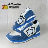 AtlanticSTARS アトランティックスターズ メンズ スニーカー イタリア シューズ 靴 SIRIUS AO 83B/ホワイト/ライトブルー サイズ:41/42/43/44