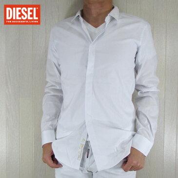 DIESEL ディーゼル シャツ メンズ トップス 長袖 アメカジ カジュアル AINKA/ホワイト サイズ:S/M/L/XL