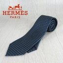 エルメス Hermes ネクタイ メンズ シルクネクタイ 8cm 038188T/01/ブラック