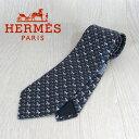 エルメス HERMES ネクタイ メンズ シルクネクタイ 8cm H柄 625992T/ネイビー