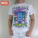 ディーゼル DIESEL メンズ トップス半袖 Tシャツ カットソー クルーネック SNT-FUNNY/100/ホワイト サイズ:S〜XL
