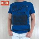 ディーゼル DIESEL メンズ トップス半袖 Tシャツ カットソー クルーネック SNT-SPIRIT/8EK/ブルー サイズ:S〜XL
