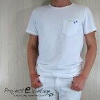 プロジェクト イー Project e メンズ トップス半袖 Tシャツ カットソー MSTS (SLIM FIT)/ホワイト サイズ:S〜XL
