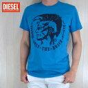 ディーゼル DIESEL メンズ トップス半袖 Tシャツ カットソー T-DIEGO-FO/8HC/ブルー サイズ:S〜XL