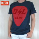 ディーゼル DIESEL メンズ トップス半袖 Tシャツ カットソー クルーネック T-DIEGO-RB / 8AT / ネイビー サイズ:M〜XXL