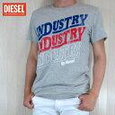 ディーゼル DIESEL メンズ トップス半袖 Tシャツ カットソー クルーネック T-DIEGO-RA / 912 / グレー サイズ:S〜XXL