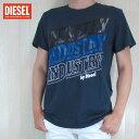 ディーゼル DIESEL メンズ トップス半袖 Tシャツ カットソー クルーネック T-DIEGO-RA / 8AT / ネイビー サイズ:L〜XXL