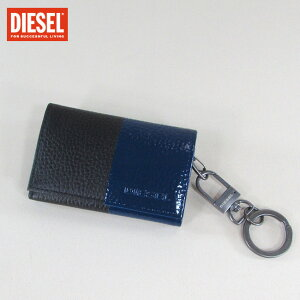 ディーゼル DIESEL キーケース キーリング キーホルダー 6連フック X04490 P0231 / H1303 / ブラック/ブルー 青