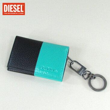 ディーゼル DIESEL キーケース キーリング キーホルダー 6連フック X04490 P0231 / H6200 / ブラック/グリーン