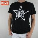 ディーゼル DIESEL メンズ トップス半袖 Tシャツ カットソー クルーネック T-DIEGO / 900 / ブラック サイズ:S〜XXL