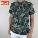ディーゼル DIESEL メンズ トップス半袖 Tシャツ カットソー T-JOE-MG / 5EB / グリーン サイズ:M/L/XL