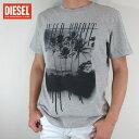 ディーゼル DIESEL メンズ トップス半袖 Tシャツ カットソー T-JOE-MB / 912 / グレー サイズ:S/M