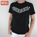 ディーゼル DIESEL メンズ トップス半袖 Tシャツ カットソー クルーネック R-JOE-I / 900 / ブラック サイズ:S〜XL