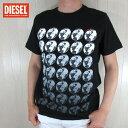 DIESEL ディーゼルメンズ トップス 半袖 Tシャツ T-JOE-SC / 900 / ブラック サイズ:S〜3XL