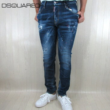 ディースクエアード DSQUARED2 デニム メンズ ジーパン ボトムス ボタンフライ S74LB0593 / 470 / ブルー 青 サイズ:44〜48