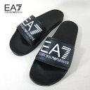 エンポリオ アルマーニ EMPORIO ARMANI EA7 サンダル スポサン ユニセックス XCP001 XCC22 / 00002 / ブラック 黒 サイズ:EU40〜44