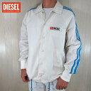 ディーゼル DIESEL メンズ ジャケット ウィンドブレーカー ブルゾン J-AKITO / 129 / ホワイト 白 サイズ:S〜XXL
